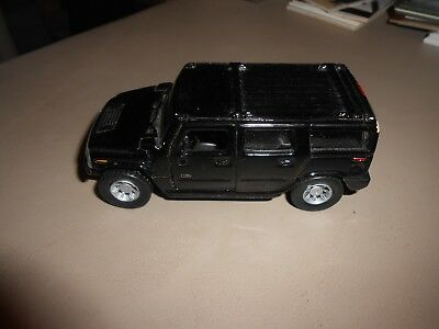 Loose Maisto Solid Black 1:46 Scale Hummer Die-Cast Vehicle