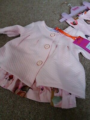 Ted Baker Baby Girls Outfit Light Pink Age 3-6 Months New