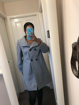 marks and spencer wool coat Size 16 Wool Blend Grey Gorgeous Swing Coat M&S