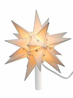 "Candle Cup 10"" White Moravian Star Tree Topper - Sixteen Spire Count"