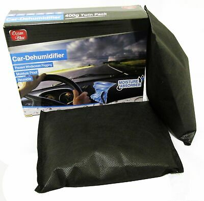 2 x CAR VEHICLE DEHUMIDIFIER PAD MOISTURE ABSORBER DEMISTER BAG caravan boat