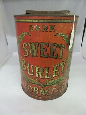 Vintage Advertising Dark Sweet Burley Store Counter  Bin  Tin  673-Q