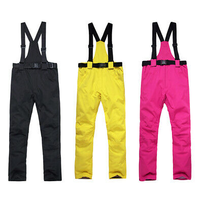 Waterproof Ski Pants Insulated Winter Snow Overall Trouser Detachable Bib