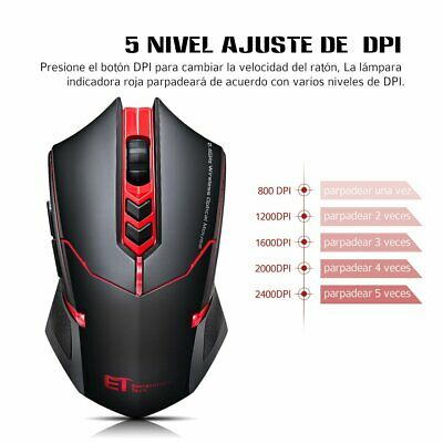 VT Cool 2400 DPI Mice 7 Buttons Wireless USB Optical Gaming Mouse For Pro Gamer
