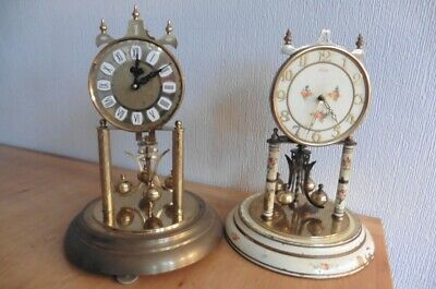 TWO LARGE CIRCA 1960s 400 DAY ANNIVERSARY CLOCKS, A HALLER AND A KUNDO