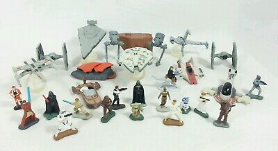 Star Wars Micro Machines Lot Ships & Figures X-Wing Millennium Falcon Yoda Vader