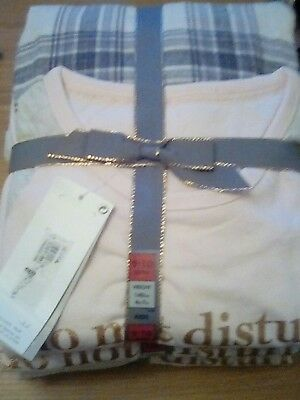 M&S GIRLS cosy PYJAMAS set.long sleeved top long bottoms AGE 9-10 years BNWT