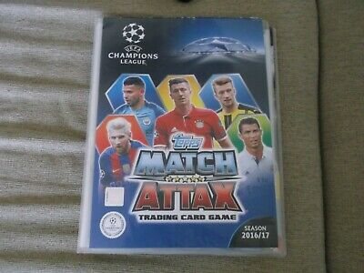 match attax 2016/17  champions league binder & cards