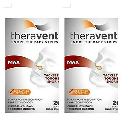 2 xTheravent Max Snore Therapy Strips 40 Strips Total  Exp 11/20