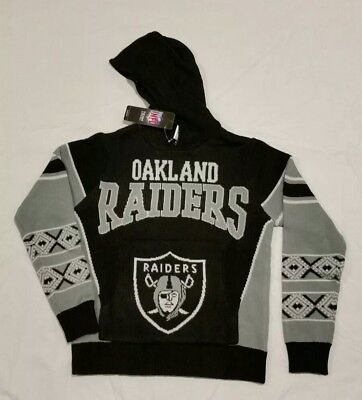 NFL Oakland Raiders Hoody Kaputzenpullover Hyper Domestic Sweater Football