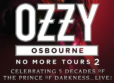 Ozzy Osbourne No More Tours 2 Section 1 Row H (2 tickets) Atlanta Ga May 27 2020