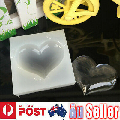 Heart Silicone Pendant Mold Necklace Jewelry Resin Mould Casting Craft Tool DIY