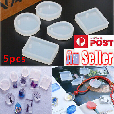 5X Silicone Jewelry Pendant Charm Making Mold Resin Casting Mould Craft DIY Tool