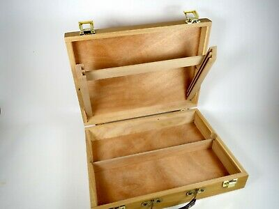 Artist Supply Box Portable Wood Travel Case Art Paint Sketch Draw Canvas Easel