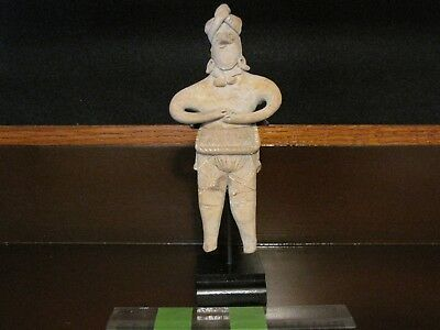 "Pre Columbian, Pottery, Colima, 'Gingerbread"" Figure, Late Form. 300 BC 200 AD"