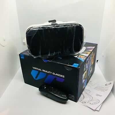 Virtual Realty Glasswork VR Headphones Bluetooth Remote New In Box Untested
