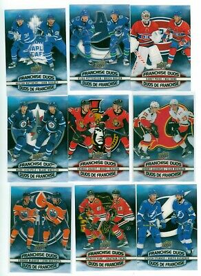 2019-20 Upper Deck Tim Hortons Hockey Cards Franchise  Duo *U-Pick* Scarce Inser