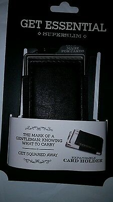 Credit Card Holder  -  Get Essential Superslim Expandable - Black - Nwt