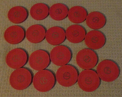S D  CASINO LOT OF 19 NO CASH VALUE SHOWN hotel casino hotel gaming poker chips