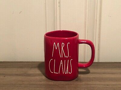 Rae Dunn Christmas By Magenta MRS. CLAUS  LL Red Mug VHTF