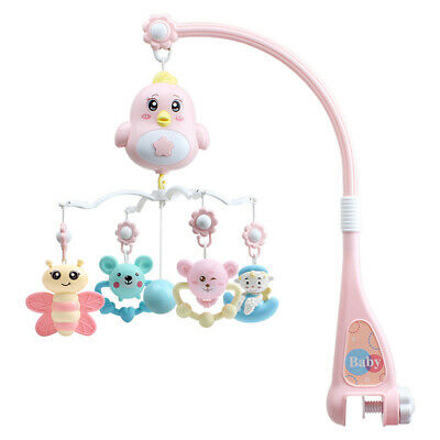 Newborn Baby Bed Bell Baby Rattle Musical Mobile Cradle Rotating Bracket Toys