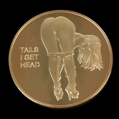 Double Side Sexy Woman Coin Adult Challenge Lucky Girl Commemorative Coins CS