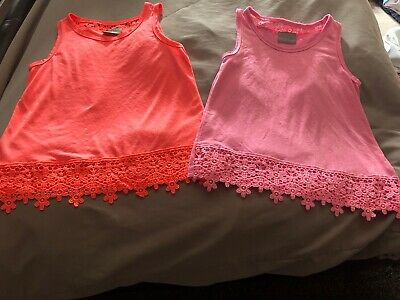 Girls T-shirts - Aged 6 Years - Matalan -x2 - Goid Condition
