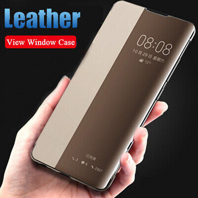 Smart View Window Flip Leather Case Cover For Huawei P20 P30 Lite Mate 30 20 Pro