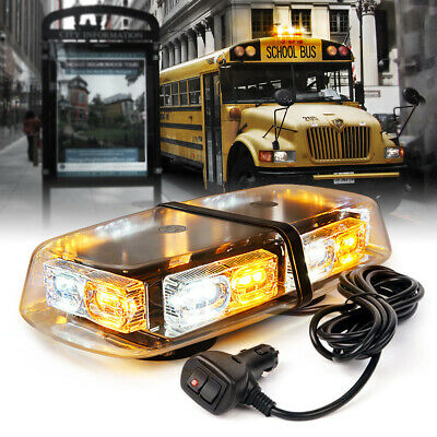 Xprite Amber/Yellow LED Strobe Light Bar Warning for Tow Trucks Jeep Roof Beacon