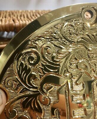 Harley Davidson Custom Hand Engraved & Gold Plated Derby Cover 60769-06