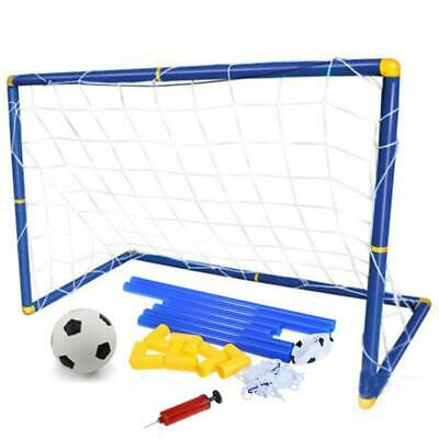 Funny Kids Chils Mini Football Soccer Goal Net Kit With Ball Pump Indoor Outdoor