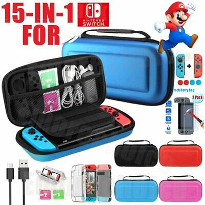 Hard Shell Travel Case Storage Bag for Nintendo Switch,Cover,Screen Protector AU