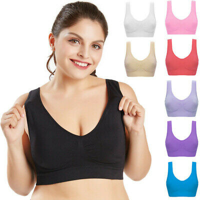Ladies Seamless Sports Bra Crop Top Women Gym Fitness Yoga Activewear Plus Size