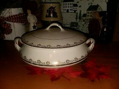 Antique Homer Laughlin Empress 59 N Covered Casserole Dish