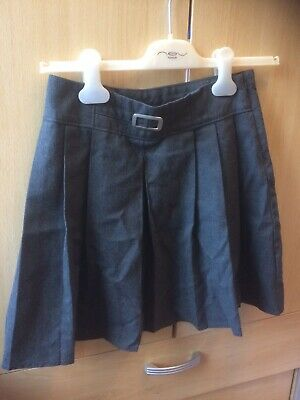 Girls Marks & Spencer School Skirt Grey Age 12 / 13 Years Excellent Condition
