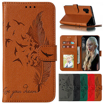 For Samsung Galaxy Note 10 Plus S10e S9 Cover Leather Magnetic Flip Wallet Case