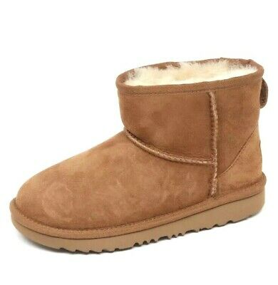 New Girls UGG Australia Classic Mini II Chestnut Big Kids Boots 1017715K-CHE UK2