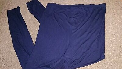 New Look Over The Bump Navy Leggings Size L