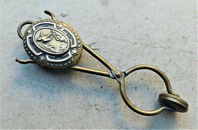 NO RESERVE c1880 Victorian Brass Skirt Lifter Vintage Antique