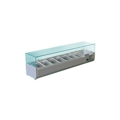 Showcase Refrigerated Carries Ingredients for Pizzeria 150 cm - 7 Pots Gn 1/4