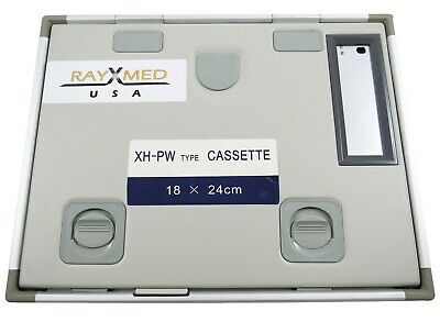 "X Ray Cassette 18x24 Cms ( 7""x9.4"") With Window Mamography Green 