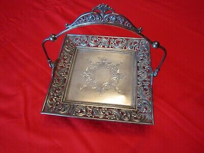 Antique Silverplate CALLING CARD HOLDER
