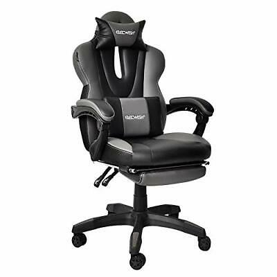 Video Gaming Office Chair Computer Desk Chair Racing Style Without Massage Grey