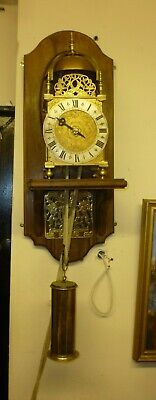 Large Vintage Weight Driven Brass Verge Single Hand Striking Lantern Clock