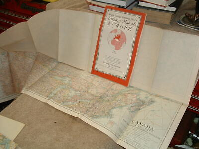 Five Rare Old National Geographic Maps  1935 36, 39, 40 & A 1940 Europe Map