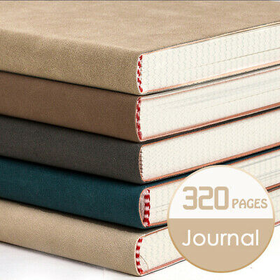 A5 PU Leather Vintage Journal Notebook Lined Paper Diary Planner 320 Pages