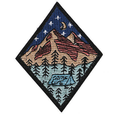 camp life embroidered patch outdoor camping badge applique sew on patch~OT