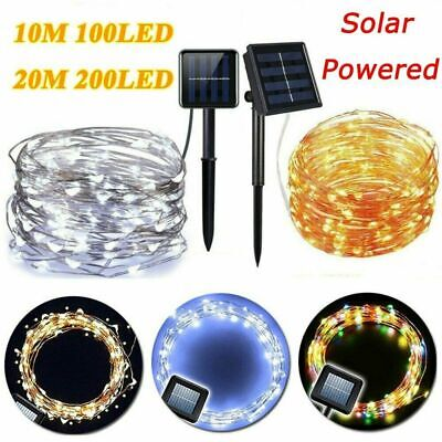 Solar Guirnalda de Luces 100 LED 10M 4 modos Tira luz Cadena Fairy Lights Decor