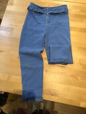 Girls Blue River Island Trousers Age 9