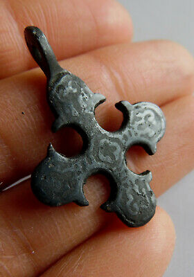Ancient Viking Bronze Cross Pendant Kievan Rus XI-XIIc*